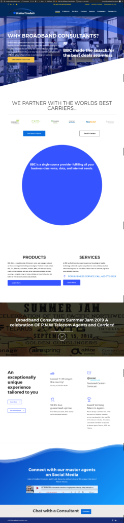 Broadband consultants website redesign wordpress 1g media