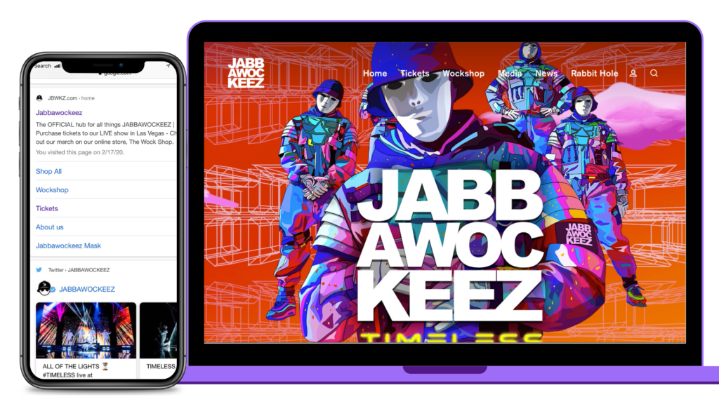Jabbawockeez Website Redesign by 1G Media